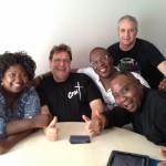 Avec Maggy Blanchard, Marcel Boungou et Richard P